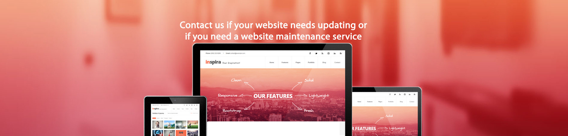 Website maintenance and updates